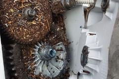 Ant nest clogging gear box
